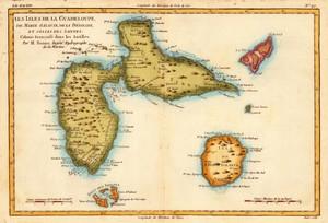 Ancienne carte de la Guadeloupe
