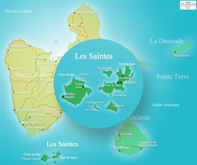 Carte Les Saintes