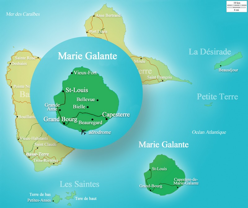 Carte Marie Galante
