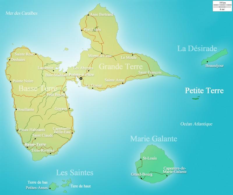 Carte Petite Terre