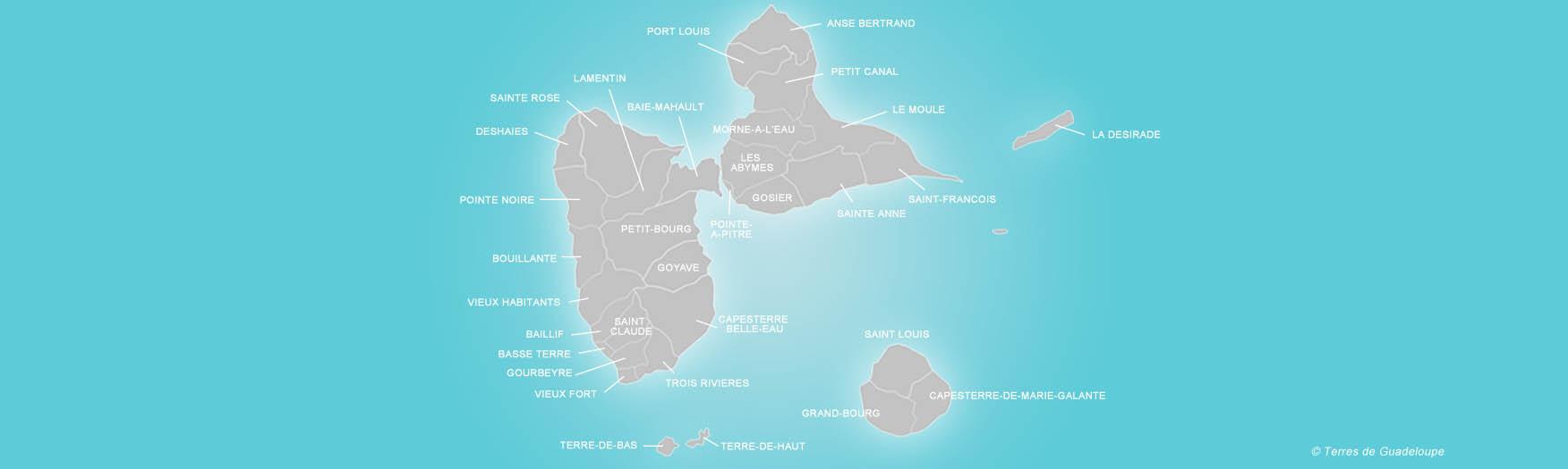 Les communes de Guadeloupe