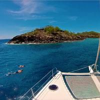Croisière en catamaran dans les îles de Guadeloupe